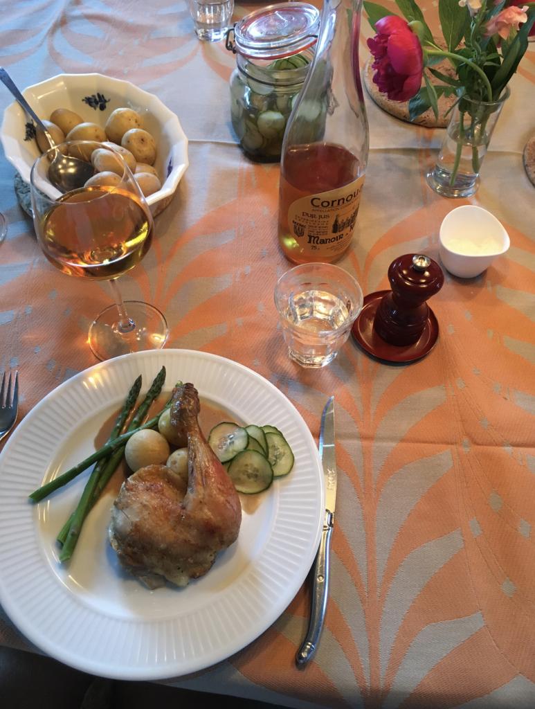 Cider og kylling